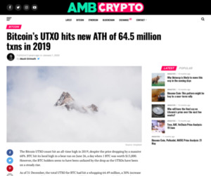 Bitcoin's UTXO hits new ATH of 64.5 million txns in 2019 - AMBCrypto