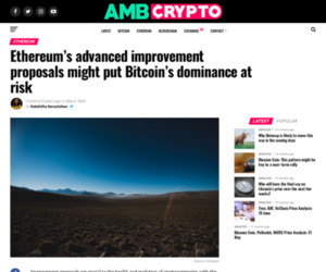 Ethereum's advanced improvement proposals might put Bitcoin's dominance at risk - AMBCrypto