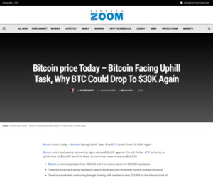 Bitcoin price Today - Bitcoin Facing Uphill Task, Why BTC Could Drop To $30K Again | Fintech Zoom - World Finance