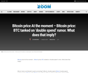 Bitcoin price At the moment - Bitcoin price: BTC tanked on 'double spend' rumor. What does that imply? | Fintech Zoom - World Finance