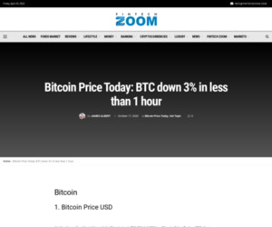 Bitcoin Price Today: BTC down 3% in less than 1 hour | Fintech Zoom
