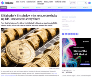 El Salvador's Bitcoin law wins vote, shaking up BTC holdings everywhere