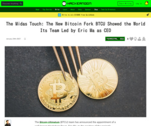The Midas Touch: The New Bitcoin Fork BTCU Showed the World Its Team Led by Eric Ma as CEO | Hacker Noon