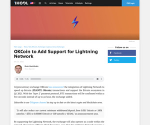 OKCoin to Add Support for Lightning Network | News | ihodl.com