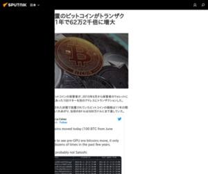 長期間放置のビットコインがトランザクション 11年で62万2千倍に増大 - Sputnik 日本
