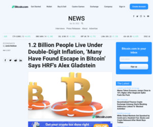 1.2 Billion People Live Under Double-Digit Inflation, 'Many Have Found Escape in Bitcoin' Says HRF's Alex Gladstein – Economics Bitcoin News
