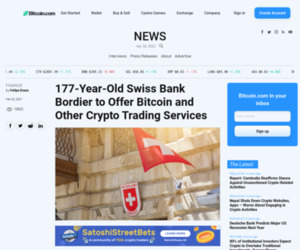 177-Year-Old Swiss Bank Bordier to Offer Bitcoin and Other Crypto Trading Services – Finance Bitcoin News