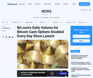 Bit.com's Daily Volume for Bitcoin Cash Options Doubled Every Day Since Launch – Bitcoin News
