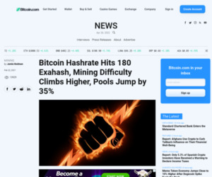 Bitcoin Hashrate Hits 180 Exahash, Mining Difficulty Climbs Higher, Pools Jump by 35% – Mining Bitcoin News