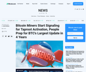Bitcoin Miners Start Signaling for Taproot Activation, People Prep for BTC's Largest Update in 4 Years – Technology Bitcoin News