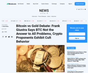 Bitcoin vs Gold Debate: Frank Giustra Says BTC Not the Answer to All Problems, Crypto Proponents Exhibit Cult Behavior – Featured Bitcoin News