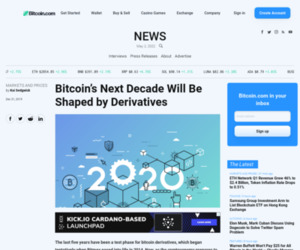 Bitcoin's Next Decade Will Be Shaped by Derivatives | Markets and Prices Bitcoin News