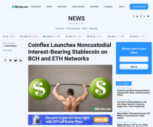 Coinflex Launches Noncustodial Interest-Bearing Stablecoin on BCH and ETH Networks | Blockchain Bitcoin News