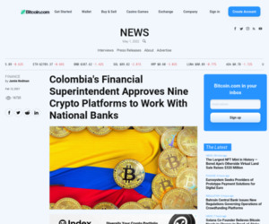 Colombia's Financial Superintendent Approves Nine Crypto Platforms to Work With National Banks – Finance Bitcoin News