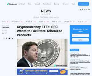 Cryptocurrency ETFs: SEC Wants to Facilitate Tokenized Products | Regulation Bitcoin News