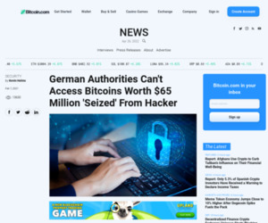 German Authorities Can't Access Bitcoins Worth $65 Million 'Seized' From Hacker – Bitcoin News