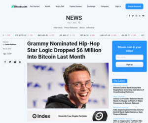 Grammy Nominated Hip-Hop Star Logic Dropped $6 Million Into Bitcoin Last Month | Bitcoin News