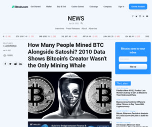 How Many People Mined BTC Alongside Satoshi? 2010 Data Shows Bitcoin's Creator Wasn't the Only Mining Whale – Featured Bitcoin News