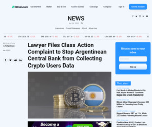 Lawyer Files Class Action Complaint to Stop Argentinean Central Bank from Collecting Crypto Users Data – Regulation Bitcoin News