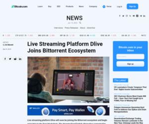Live Streaming Platform Dlive Joins Bittorrent Ecosystem - Bitcoin News