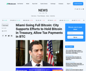 Miami Going Full Bitcoin: City Supports Efforts to Hold Bitcoin in Treasury, Allow Tax Payments in BTC – Regulation Bitcoin News