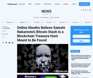 Online Sleuths Believe Satoshi Nakamoto's Bitcoin Stash Is a Blockchain Treasure Hunt Meant to Be Found – Featured Bitcoin News