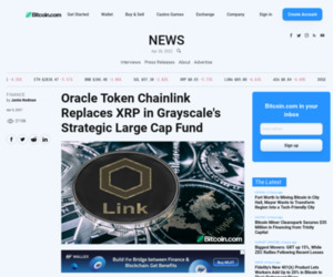 Oracle Token Chainlink Replaces XRP in Grayscale's Strategic Large Cap Fund – Finance Bitcoin News