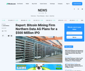 Report: Bitcoin Mining Firm Northern Data AG Plans for a $500 Million IPO – Mining Bitcoin News