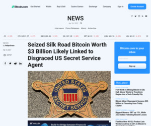 Seized Silk Road Bitcoin Worth $3 Billion Likely Linked to Disgraced US Secret Service Agent – News Bitcoin News
