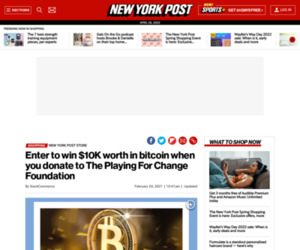 Enter to win $10K worth in bitcoin when you donate to The Playing For Change Foundation