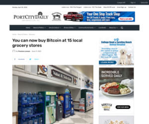 You can now buy Bitcoin at 15 local grocery stores | Port City Daily
