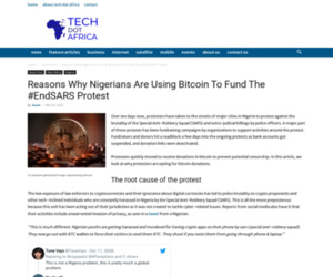 Reasons Why Nigerians Are Using Bitcoin To Fund The #EndSARS Protest