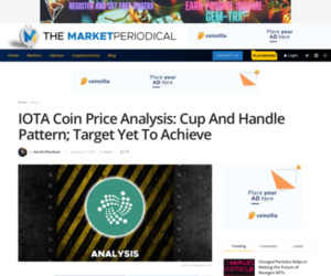 IOTA Coin Price Analysis: Cup And Handle Pattern; Target Yet To Achieve - Cryptocurrency News