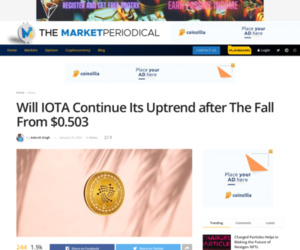 Will IOTA Continue Its Uptrend after The Fall From $0.503 - Cryptocurrency News