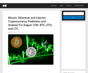 Bitcoin, Ethereum and Litecoin Cryptocurrency Prediction and Analysis For August 12th: BTC, ETH, and LTC » The Merkle Hash