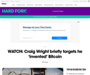 WATCH: Craig Wright briefly forgets he 'invented' Bitcoin