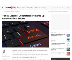 'Fancy Lazarus' Cyberattackers Ramp up Ransom DDoSes   Threatpost