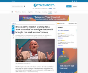 Bitcoin (BTC) market waiting for a 'new narrative' or catalyst that could bring in the next wave of money - TokenPost