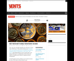 Most Trusted Way to Double Your Bitcoin in 100 Hours -