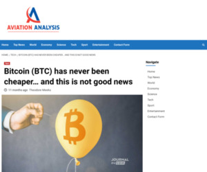 Bitcoin (BTC) has never been cheaper… and this is not good news