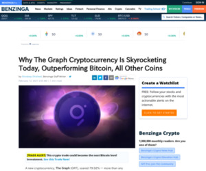 ($BTC),  ($ETH) - Why The Graph Cryptocurrency Is Skyrocketing Today, Outperforming Bitcoin, All Other Coins | Benzinga
