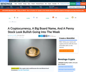 A Cryptocurrency, A Big Board Name, And A Penny Stock Look Bullish Going Into The Week - Snowflake Inc (SNOW)   Benzinga