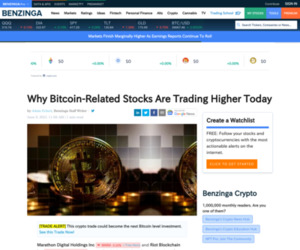 Why Bitcoin-Related Stocks Are Trading Higher Today   Benzinga