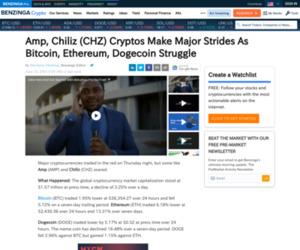 Amp, Chiliz (CHZ) Cryptos Make Major Strides As Bitcoin, Ethereum, Dogecoin Struggle | Benzinga