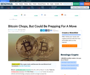 Bitcoin Chops, But Could Be Prepping For A Move   Benzinga