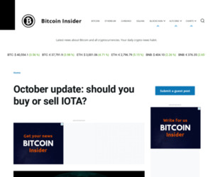 October update: should you buy or sell IOTA?   Bitcoin Insider