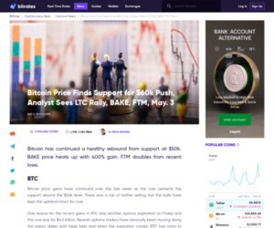 Bitcoin Price Finds Support for $60k Push, Analyst Sees LTC Rally, BAKE, FTM,