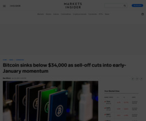 Bitcoin sinks below $34,000 as sell-off cuts into early-January momentum | Currency News |  Financial and Business News | Markets Insider