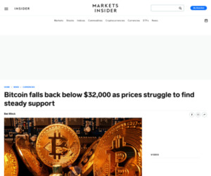 Bitcoin falls back below $32,000 as prices struggle to find steady support   Currency News    Financial and Business News   Markets Insider