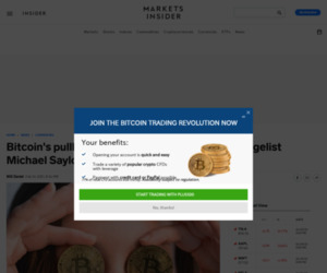 Bitcoin's pullback slashes 23% from crypto evangelist Michael Saylor's MicroStrategy | Currency News |  Financial and Business News | Markets Insider